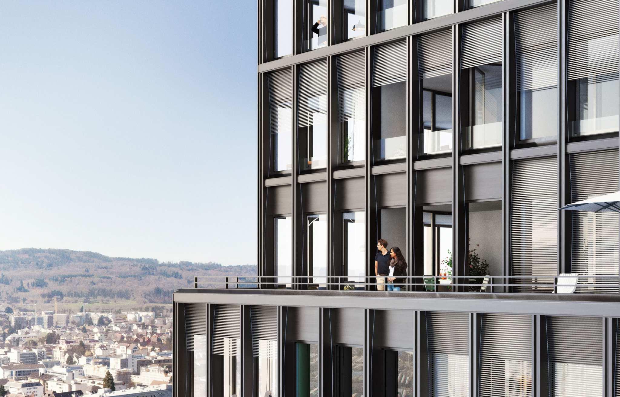 Westlink Tower und Kubus, Zürich Altstetten